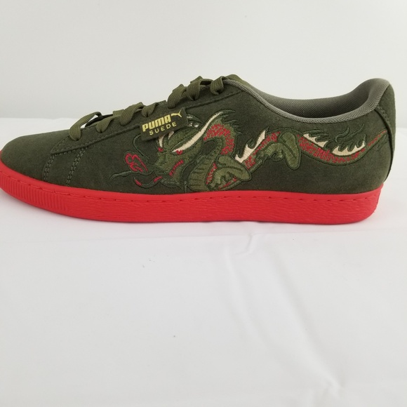 41d0d62add Green Puma Suede Dragon Suede Sneakers US 11